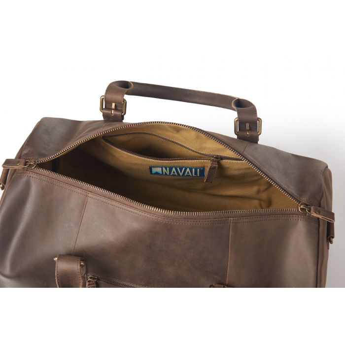 Helmsman Leather Duffle
