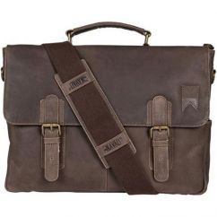 Navigator Leather Messenger-Brown