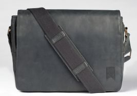 Mainstay Leather Messenger – Black