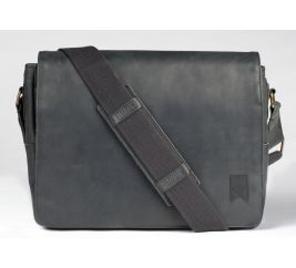 Mainstay Leather Messenger - Black