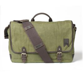 Boatswain Waxed Canvas Messenger Bag – Olive