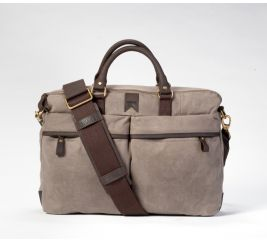 Gunner Waxed Canvas Briefcase