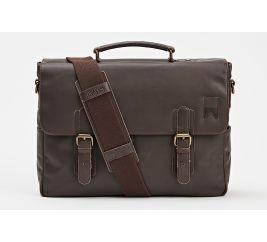 Navigator Leather Messenger-Brown