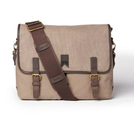 Navigator Waxed Canvas Messenger Charcoal Grey