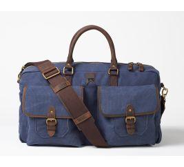 Stowaway Canvas Weekender Bag – Navy